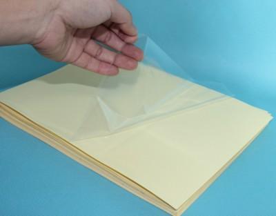 สติกเกอร์ STICKER A4 PVC - CLEAR SHEET