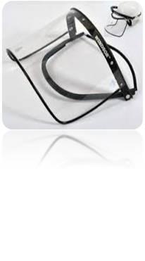 faceshield frame clear lens